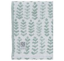 RUUSU x HVITTRÄSK - Банное и пляжное полотенце - белый / зеленый - 95x180