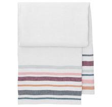 LEWA - Банное и пляжное полотенце - серый / бордовый - 95x180