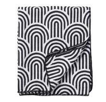 ARCADE - Cotton throw - black/white - 140x180