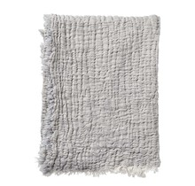 DUO - Cotton throw - grey - 130x170
