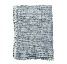 DUO - Cotton throw - blue - 130x170