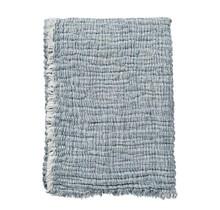 DUO - Jeté en coton - bleu - 130x170