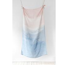 SAARI - Bad- & Strandlaken - roze / blauw - 95x180