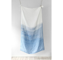 SAARI - Bath & Beach towel - white / blue - 95x180