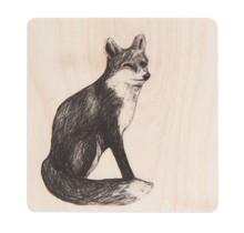 Miiko - FOX - Onderzetter Vos - berkenhout - 10x10