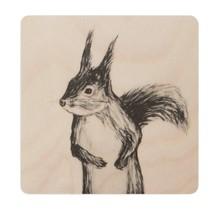 Miiko - SQUIRREL - Onderzetter Eekhoorn - berkenhout - 10x10