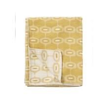 DORIS - Katoenen plaid - geel - 140x180
