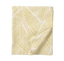 PLANT - Katoenen plaid - geel - 140x180
