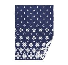 SNOWFALL - Wool Plaid - Blue - 130x180