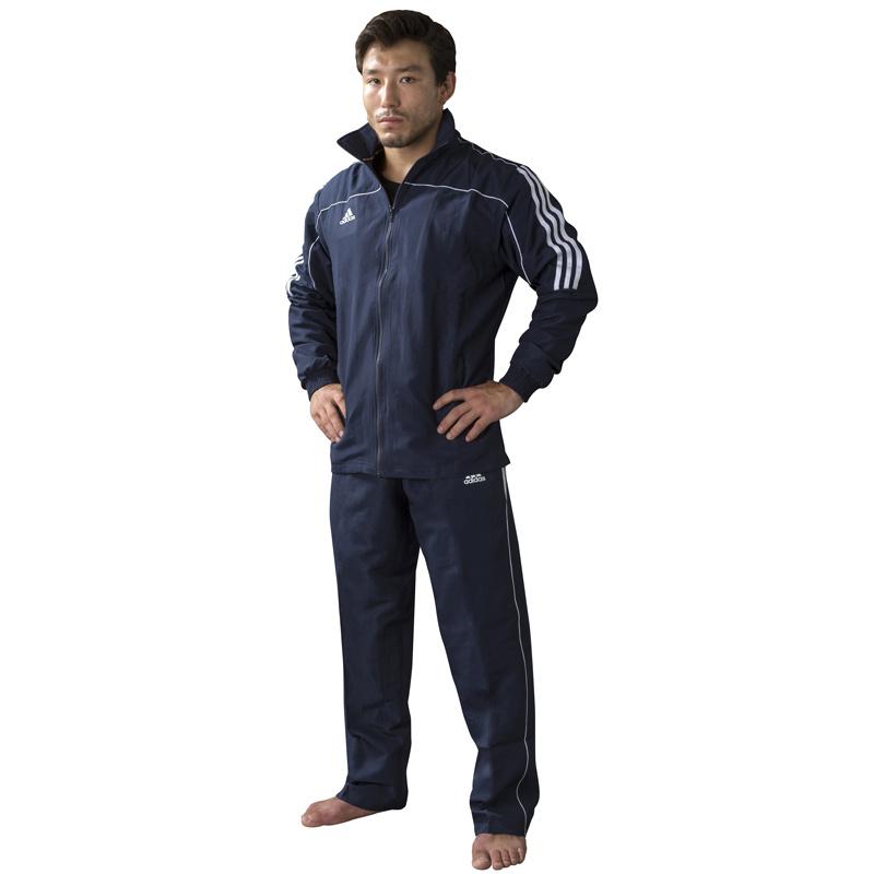 Adidas adidas Team Track Trainingsbroek Blauw/Wit XXL