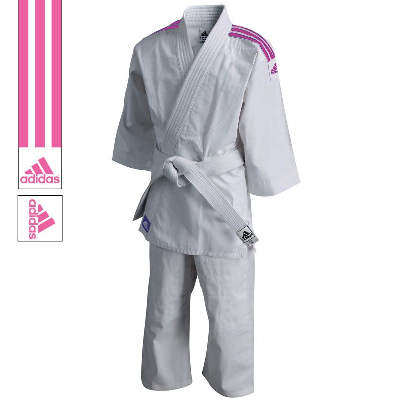 Adidas adidas Judopak J200 Evolution Wit/Roze 100-110cm