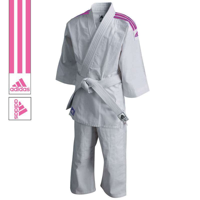 Adidas adidas Judopak J200 Evolution Wit/Roze 110-120cm