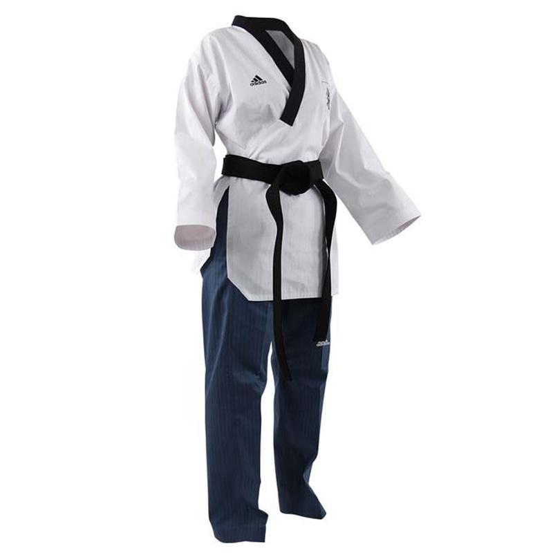 Adidas Adidas Poomsae Taekwondopak Dames Wit/Licht Blauw 150cm