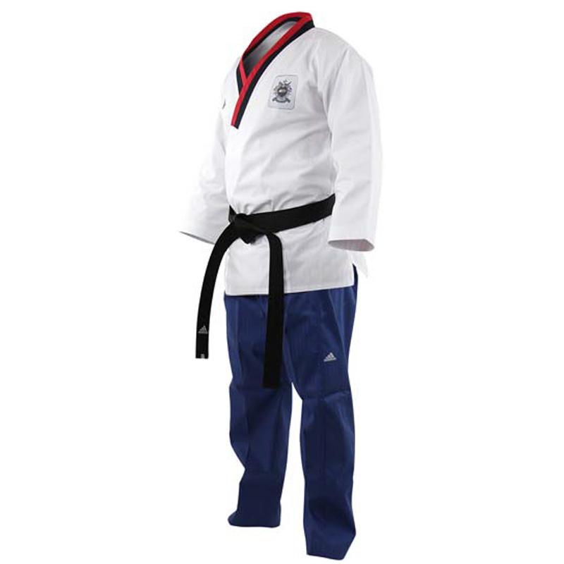 Adidas Adidas Poomsae Taekwondopak Boys Wit/Licht Blauw 150cm