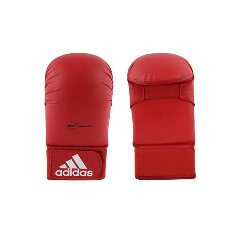 Adidas adidas WKF Karatehandschoen Zonder Duim Rood
