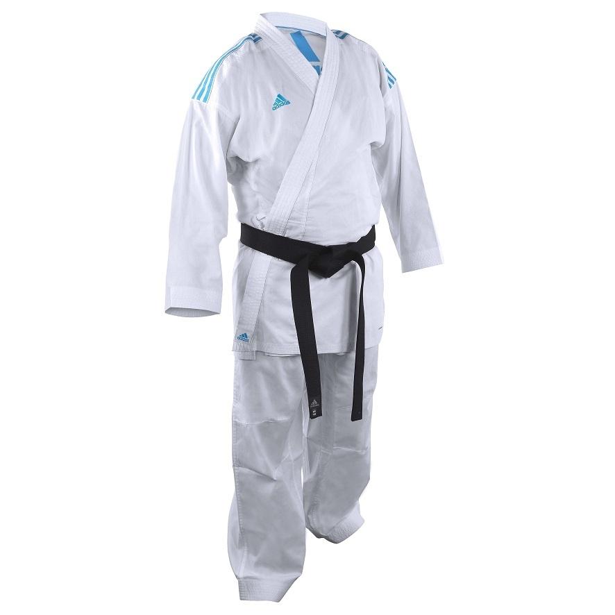 Adidas adidas Karatepak K220KF Kumite Fighter Wit/Blauw