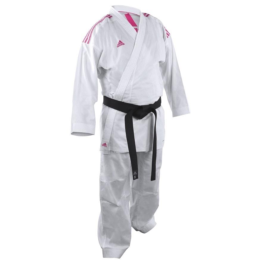 Adidas adidas Karatepak K220KF Kumite Fighter Wit/Roze