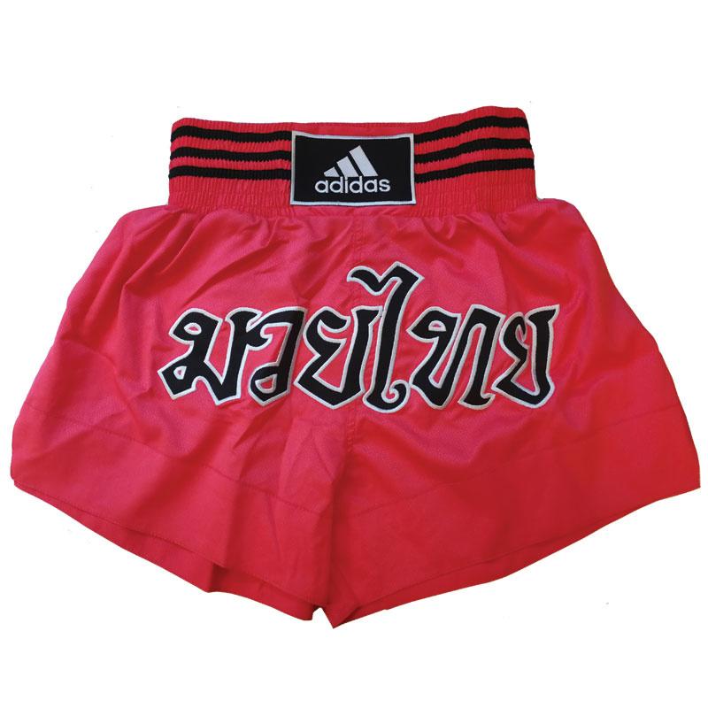 Adidas adidas Kickboksshort STH02 Shock Red/Zwart