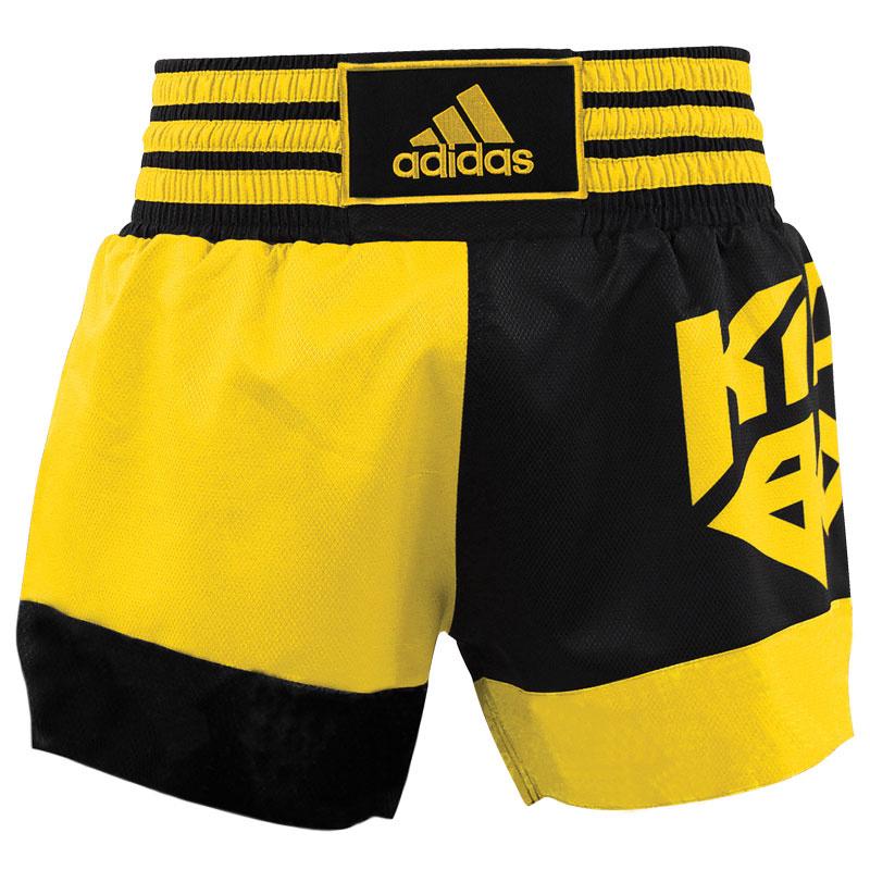 Adidas adidas Kickboksshort SKB02 Zwart/Shock Yellow