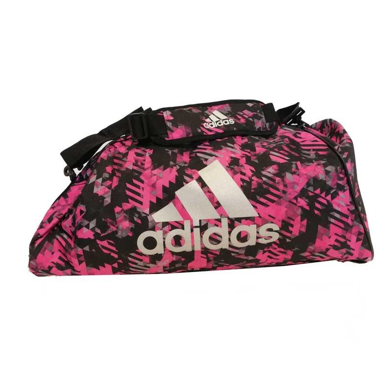 Adidas adidas Combat Sporttas Polyester 2 in 1 Roze Camo/Zilver Medium