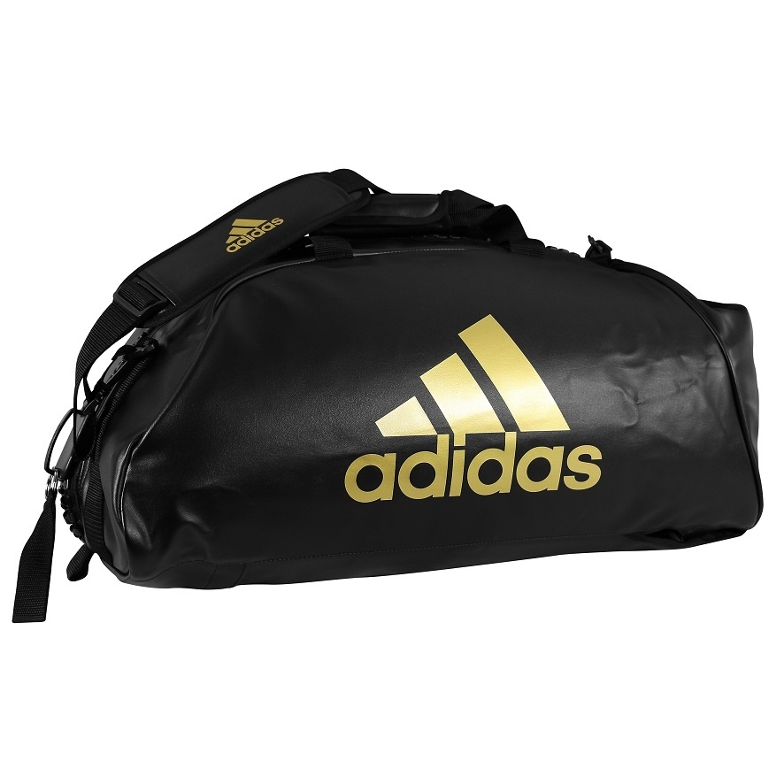 Adidas adidas Training Sporttas Combat 2 in 1 Zwart/Goud Medium