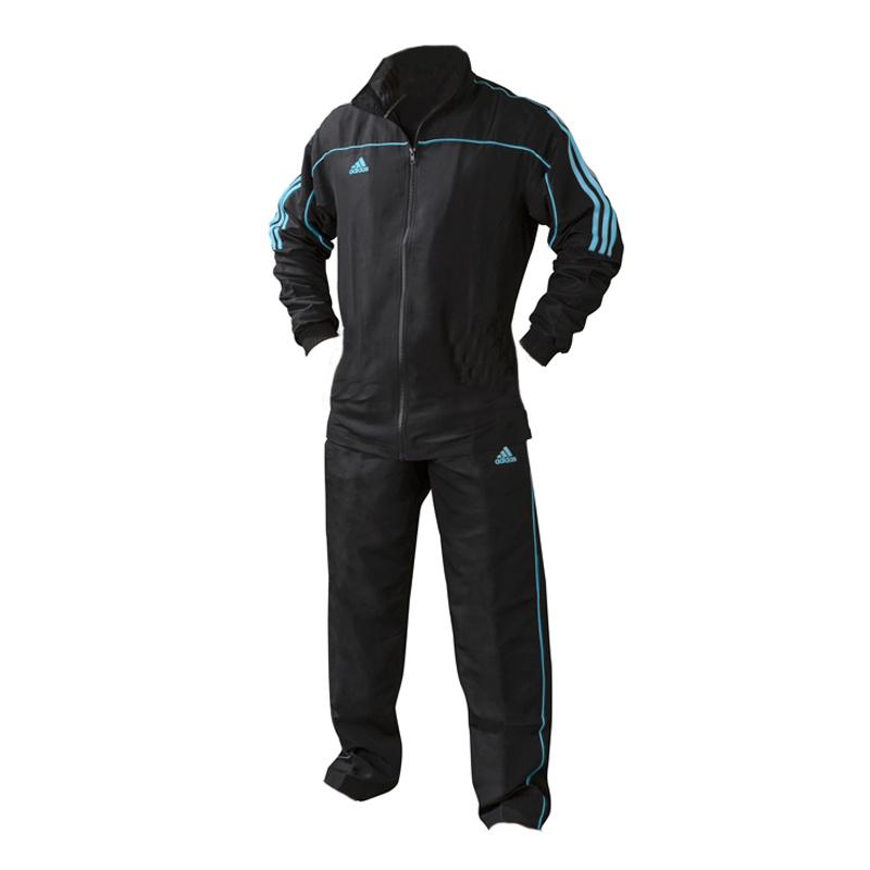 Adidas adidas Team Track Trainingsbroek Zwart/Blauw
