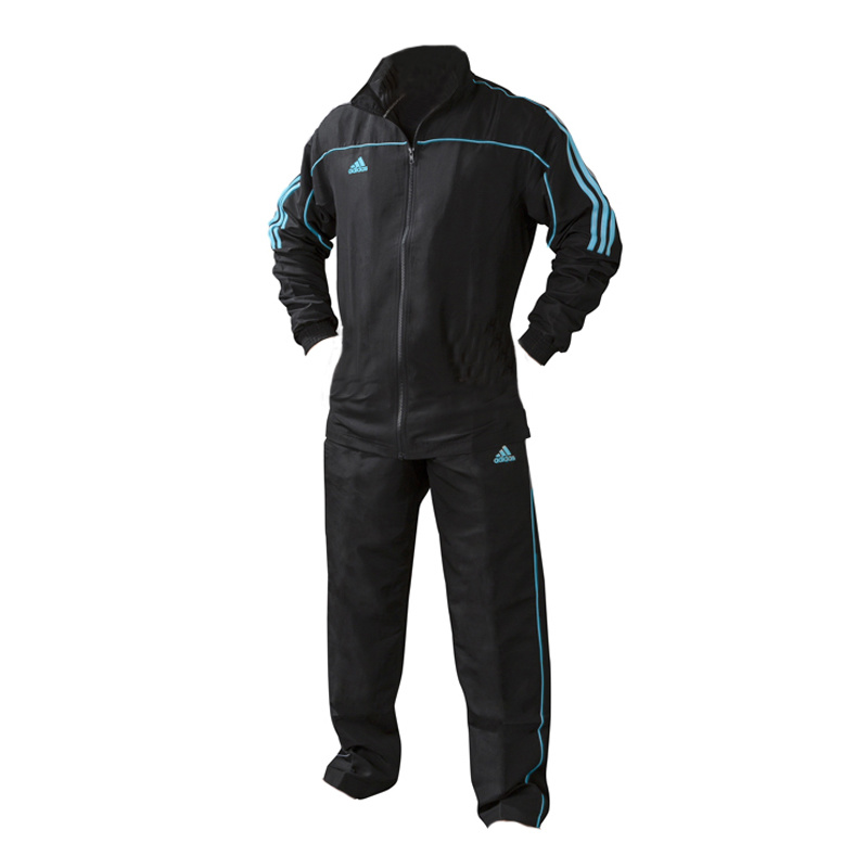 Adidas adidas Team Track Trainingsjack Zwart/Blauw