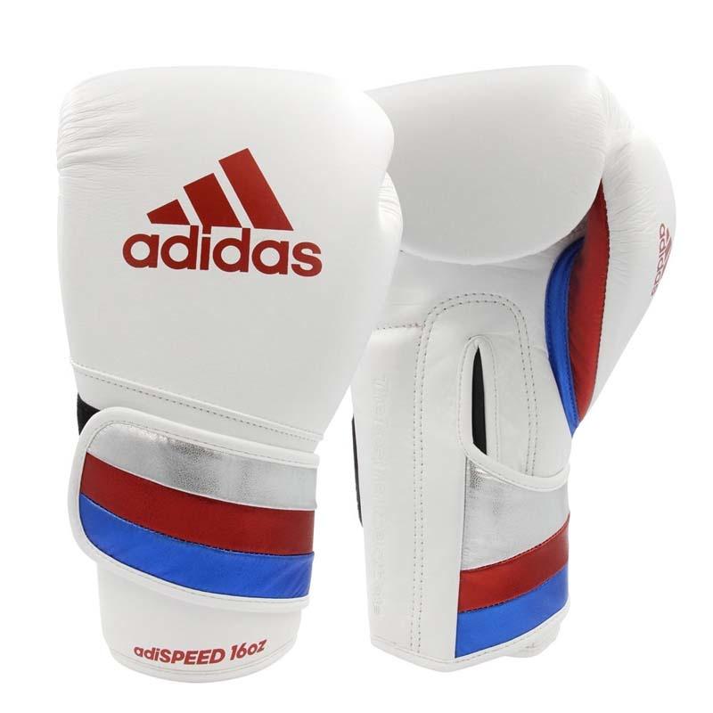 Adidas adidas Bokshandschoenen adiSPEED Strap-Up Wit/Rood/Blauw