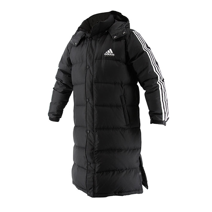 Adidas adidas Lange Parka-Jas Zwart/Wit