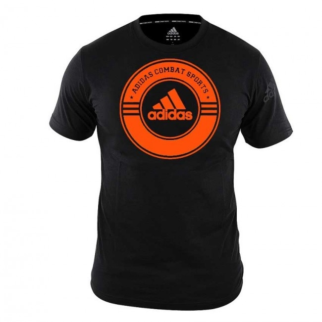 Adidas adidas T-Shirt Combat Sports Zwart/Oranje