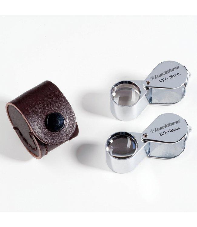 Leuchtturm (Lighthouse) Precision Magnifier / Chrome-Plated (3 Lens System) 10X Magnification
