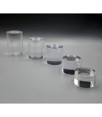SMC Clear Acrylic Risers / Round / 5 Piece Set