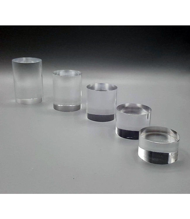 Clear Acrylic Risers / Round / 5 Piece Set