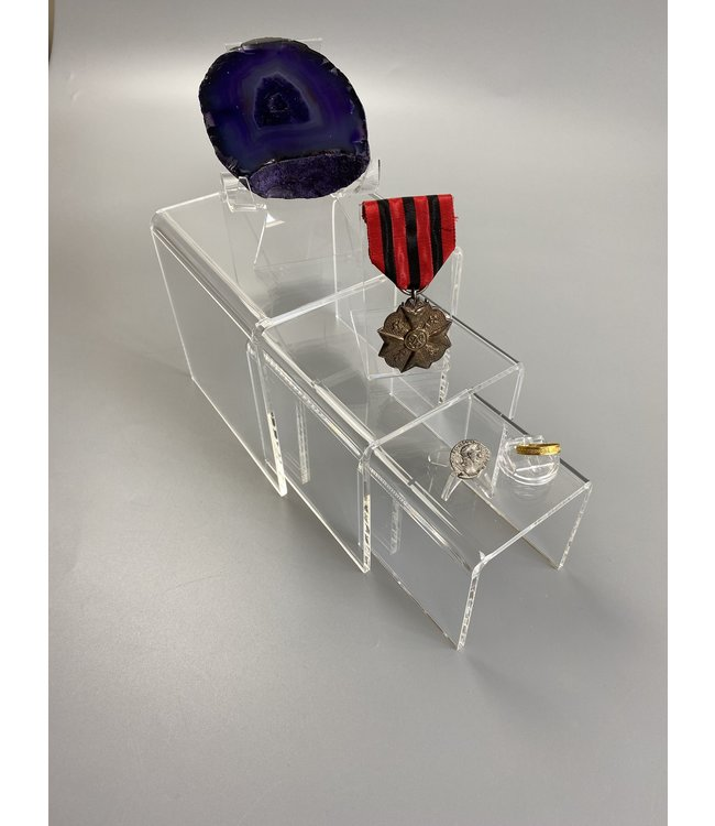 Clear Acrylic Risers / Square / Set Of 3 / M