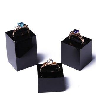 SMC Ring Standaard Acryl Zwart / Transparant