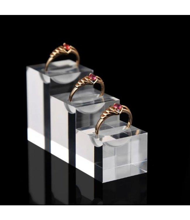 Ring Standaard Acryl Zwart / Transparant