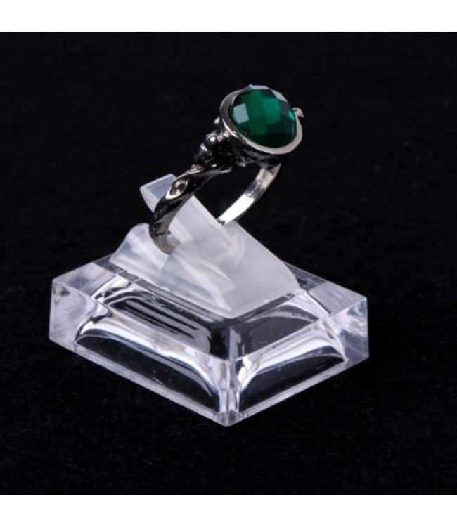 Transparante Ring Houder Vierkant Acryl