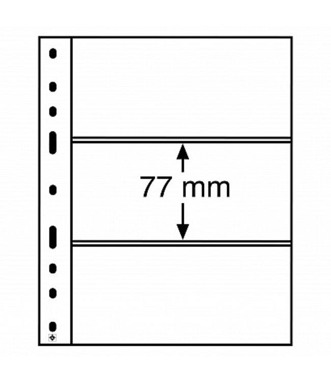 Kunststoffhüllen Optima / 3er Einteilung