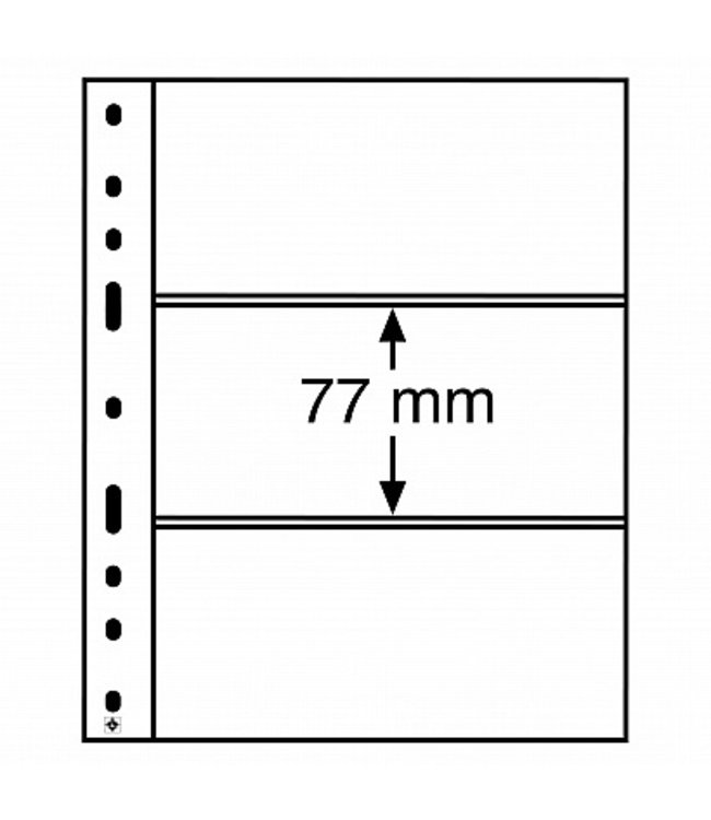 Plastic Pockets Optima 3-Way Division
