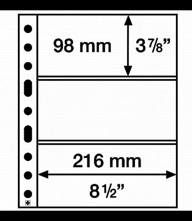 Plastic Pocket Sheets Grande / 3-Way Division