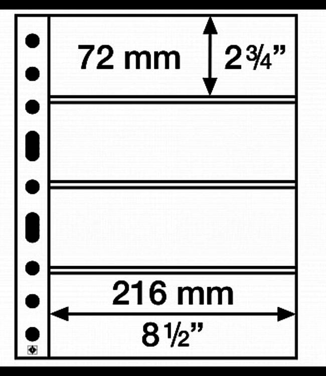 Plastic Pocket Sheets Grande 4-Way Division Horizontal
