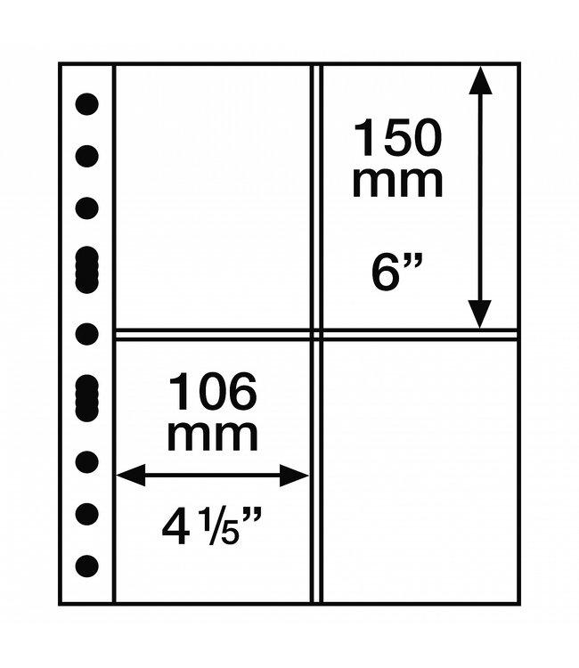 Plastic Pocket Sheets Grande 4-Way Division