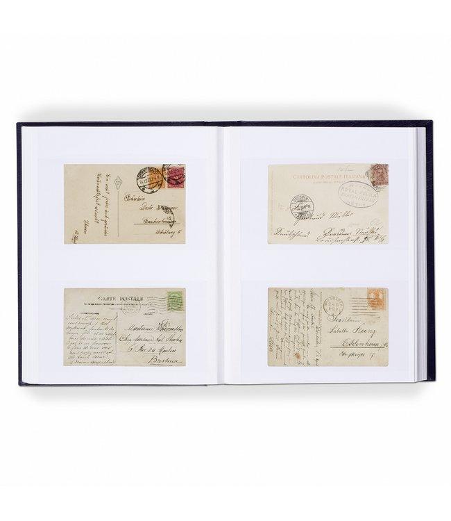 Luxe Album Voor 128 Ansichten / Briefkaarten / 64 Witte Pagina's