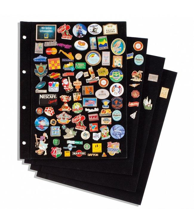 Sheets For Pin Binder, Black Velvet