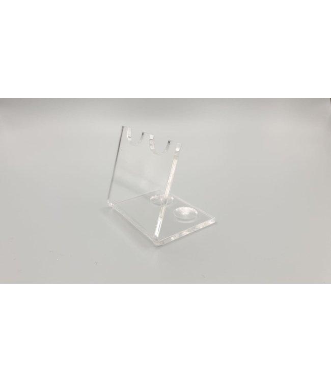Acryl Standaard Voor 2 Pennen / Theelepels / Hulzen (Klein)