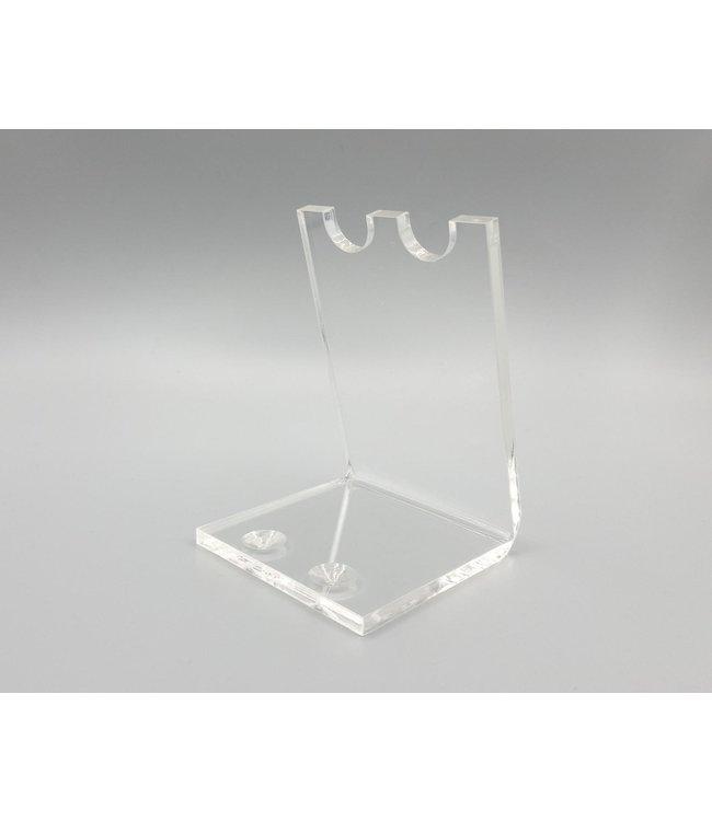 Acryl Standaard Voor 2 Pennen / Theelepels / Hulzen