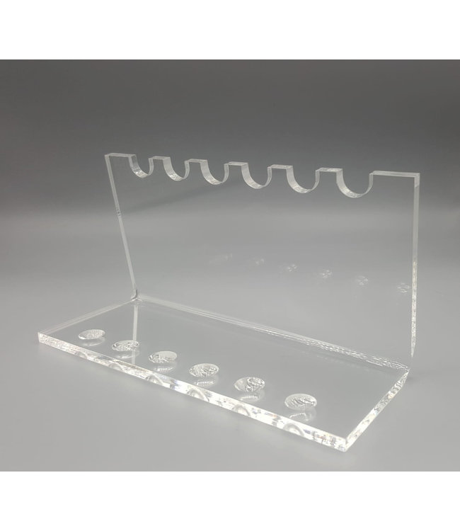 Acrylic Display Stand for 6 Pens / Teaspoons / Bullet Shells / Cartridges