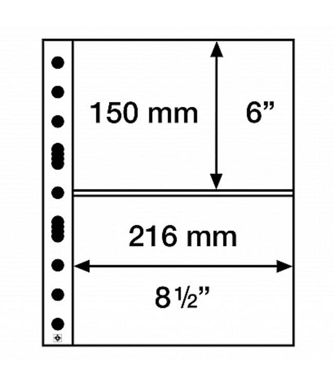 Kunststoffhüllen / 2 Taschen  / Klar / 50er Pack