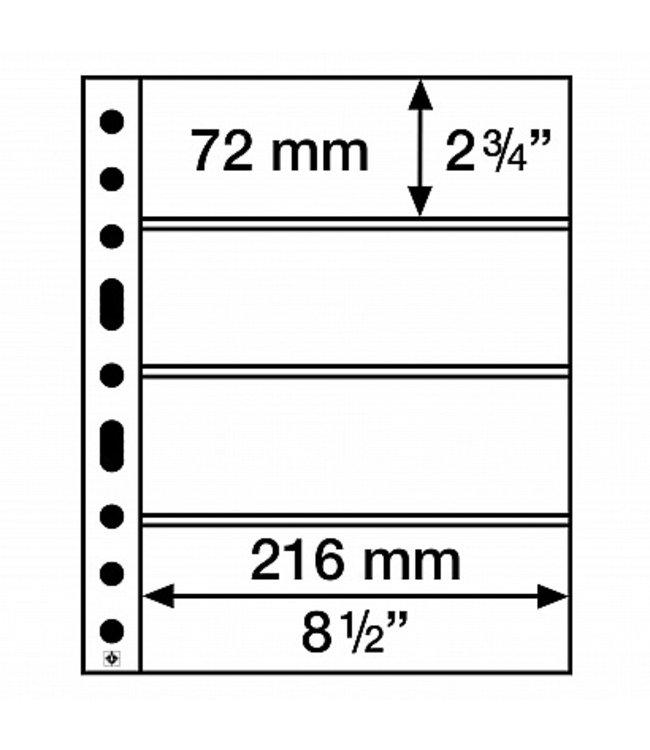 Kunststoffhüllen / 4 Gerade Taschen / Klar / 50er Pack