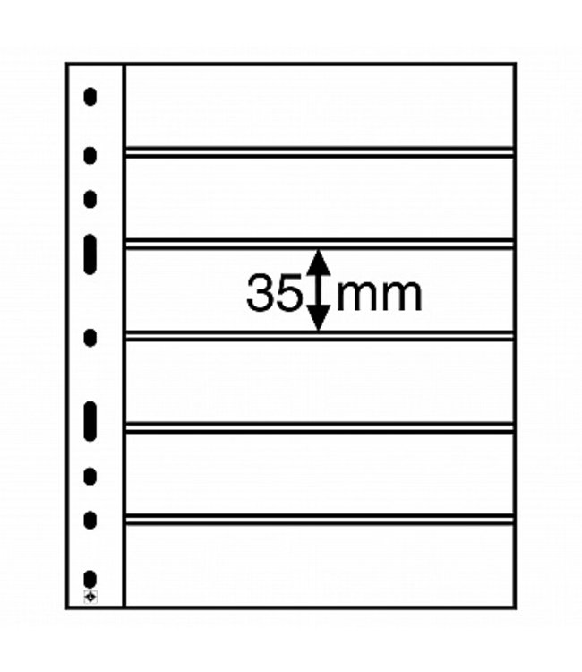Optima Insert Stock Sheets / Black / With 6 Clear Strips